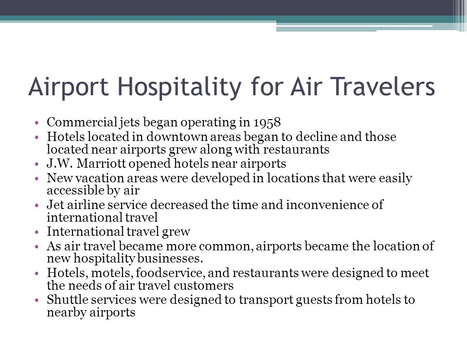 Airport Hospitality for Air Travelers