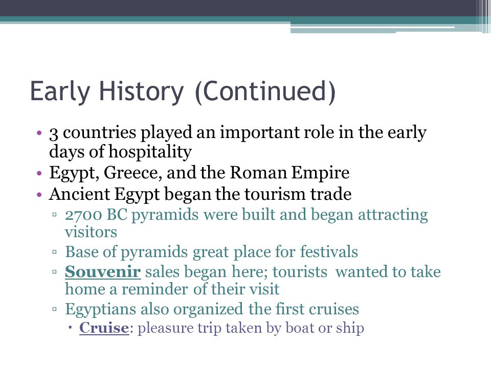 Early History (Continued)