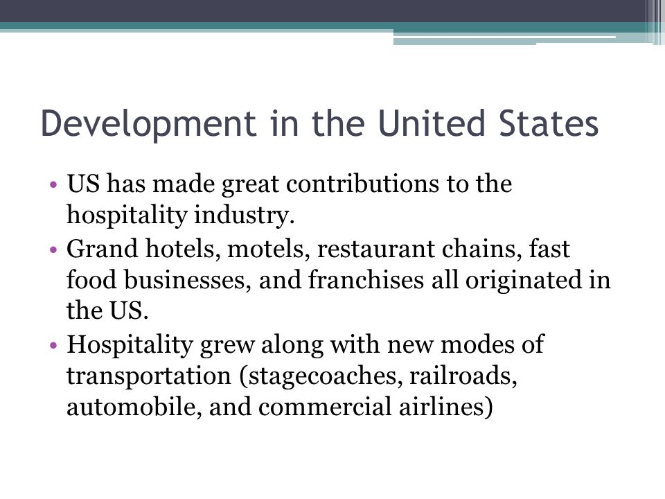 Development in the United States