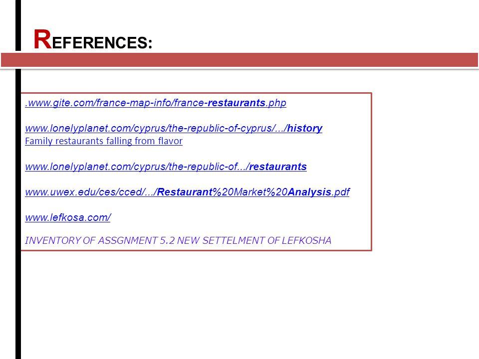 REFERENCES: .www.gite.com/france-map-info/france-restaurants.php