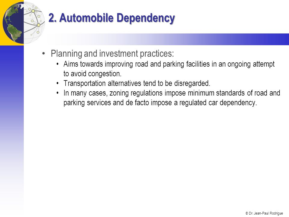 2. Automobile Dependency