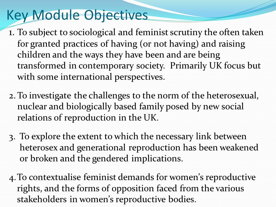Key Module Objectives