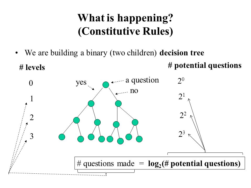 What is happening (Constitutive Rules)