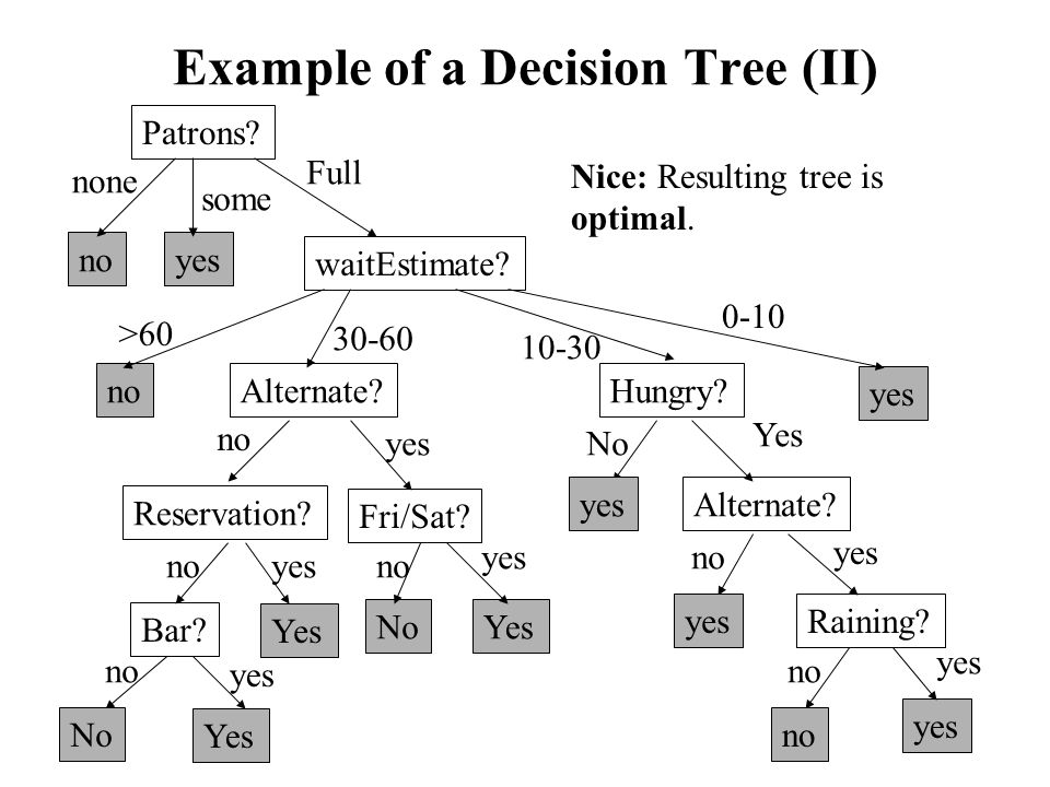 Example of a Decision Tree (II)