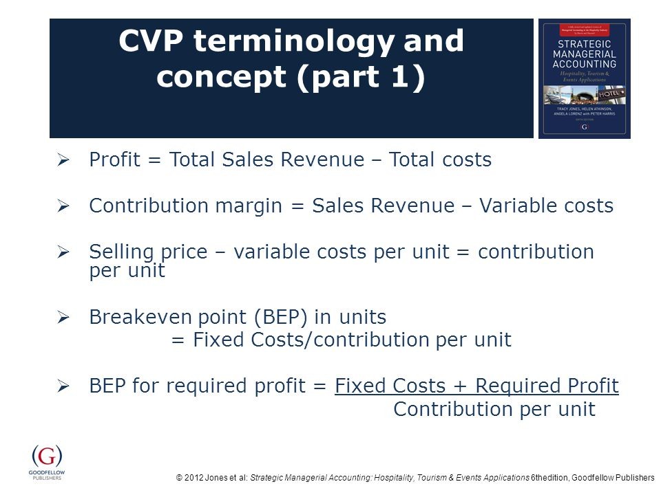 CVP terminology and concept (part 1)