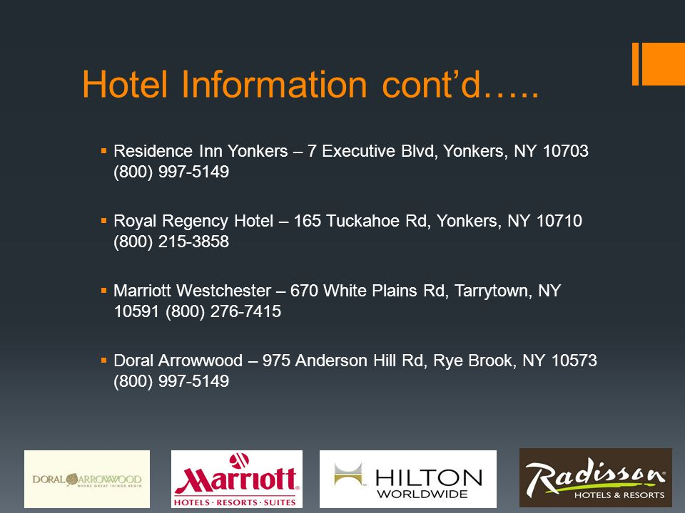 Hotel Information cont'd…..