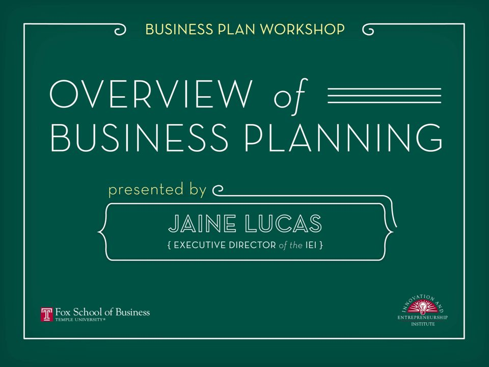 PLANNING FOR BUSINESS SUCCESS