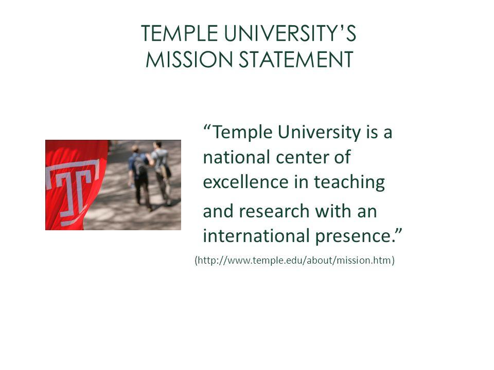 TEMPLE UNIVERSITY'S MISSION STATEMENT