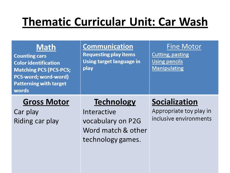 Thematic Curricular Unit: Car Wash