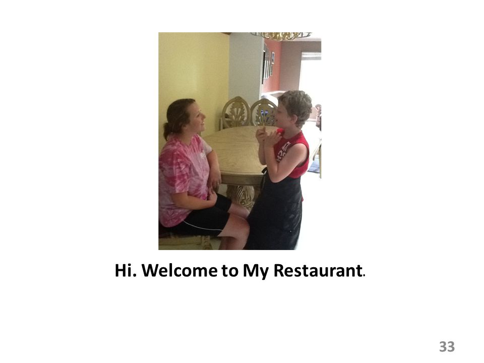 Hi. Welcome to My Restaurant.