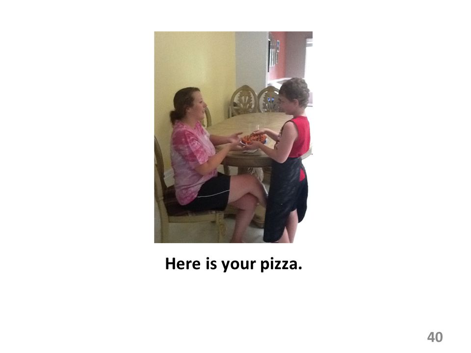 Here is your pizza.