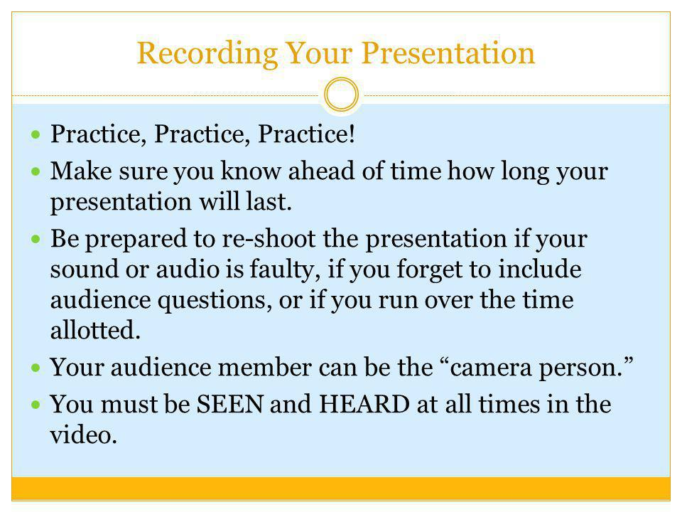 Recording Your Presentation