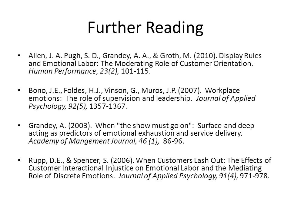 deep acting and surface acting psychology essay Main and moderating effects of self-control, organizational justice, and emotional labour on counterproductive behaviour at work.