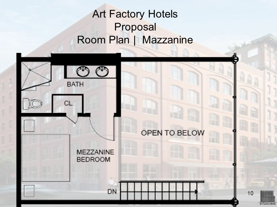 Art Factory Hotels Proposal Room Plan | Mazzanine