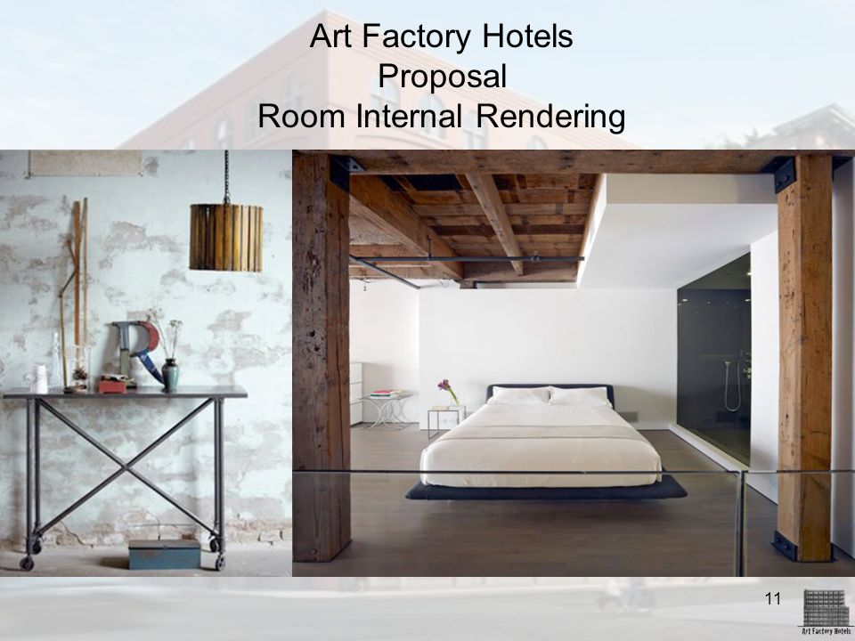 Art Factory Hotels Proposal Room Internal Rendering