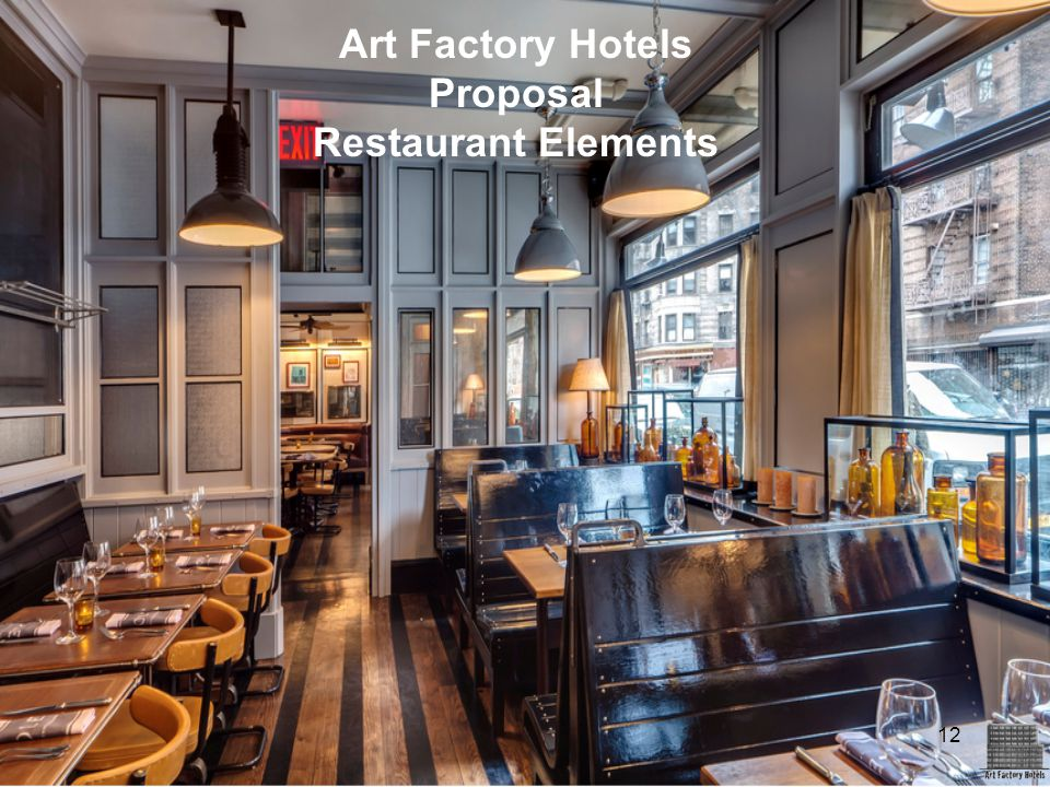 Art Factory Hotels Proposal Restaurant Elements