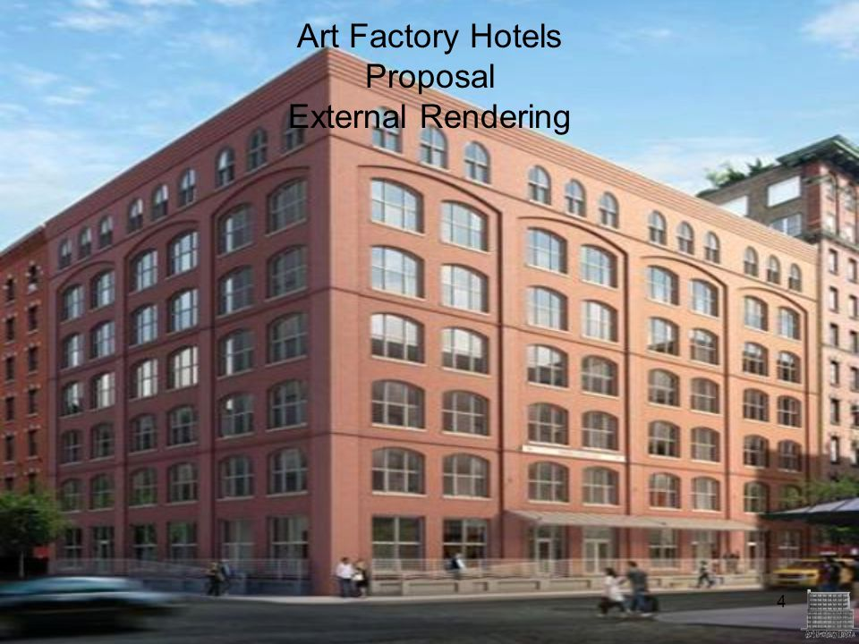 Art Factory Hotels Proposal External Rendering