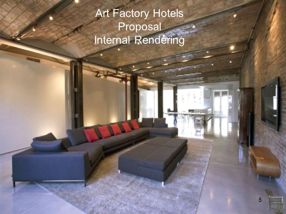 Art Factory Hotels Proposal Internal Rendering