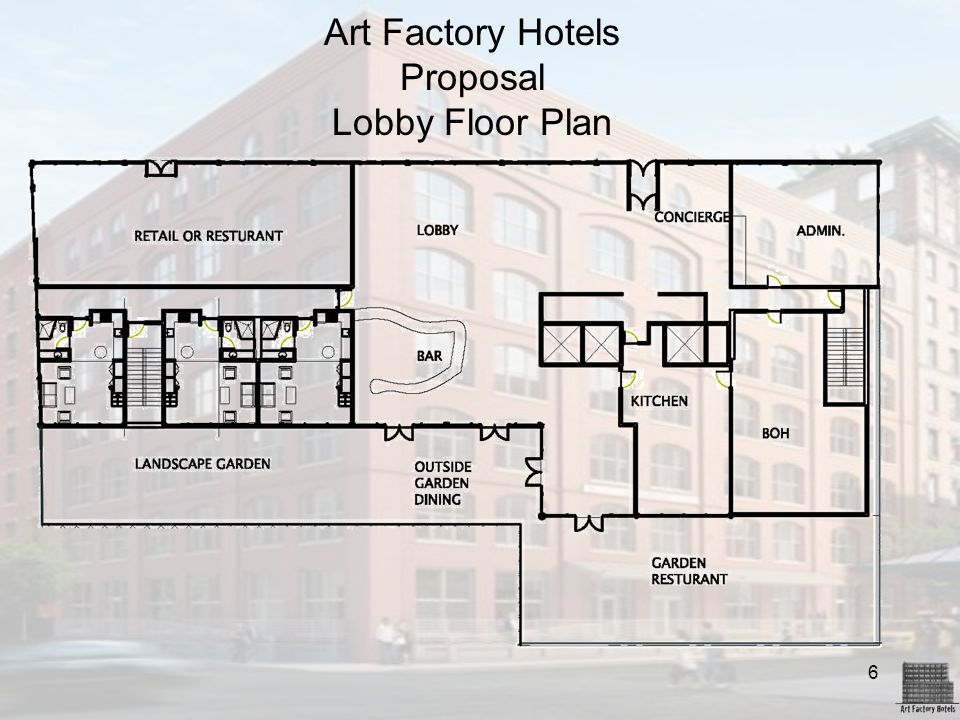 Art Factory Hotels Proposal Lobby Floor Plan