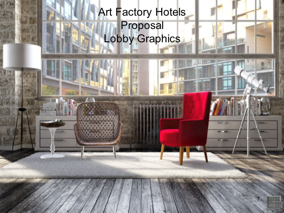 Art Factory Hotels Proposal Lobby Graphics