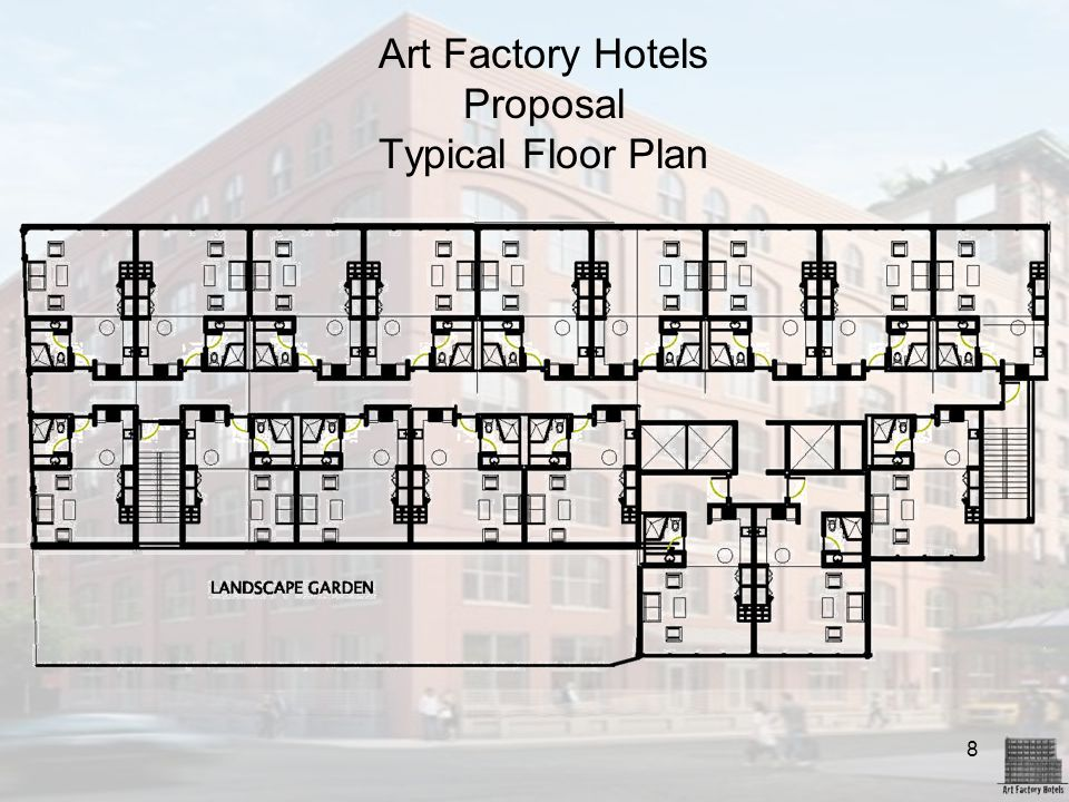 Art Factory Hotels Proposal Typical Floor Plan