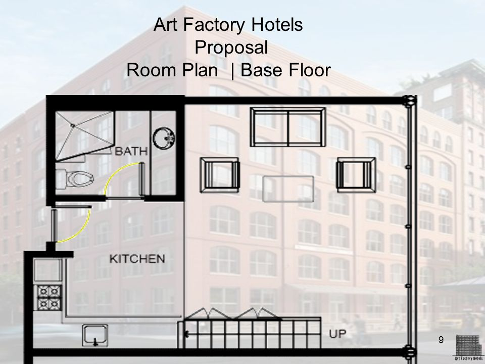 Art Factory Hotels Proposal Room Plan | Base Floor