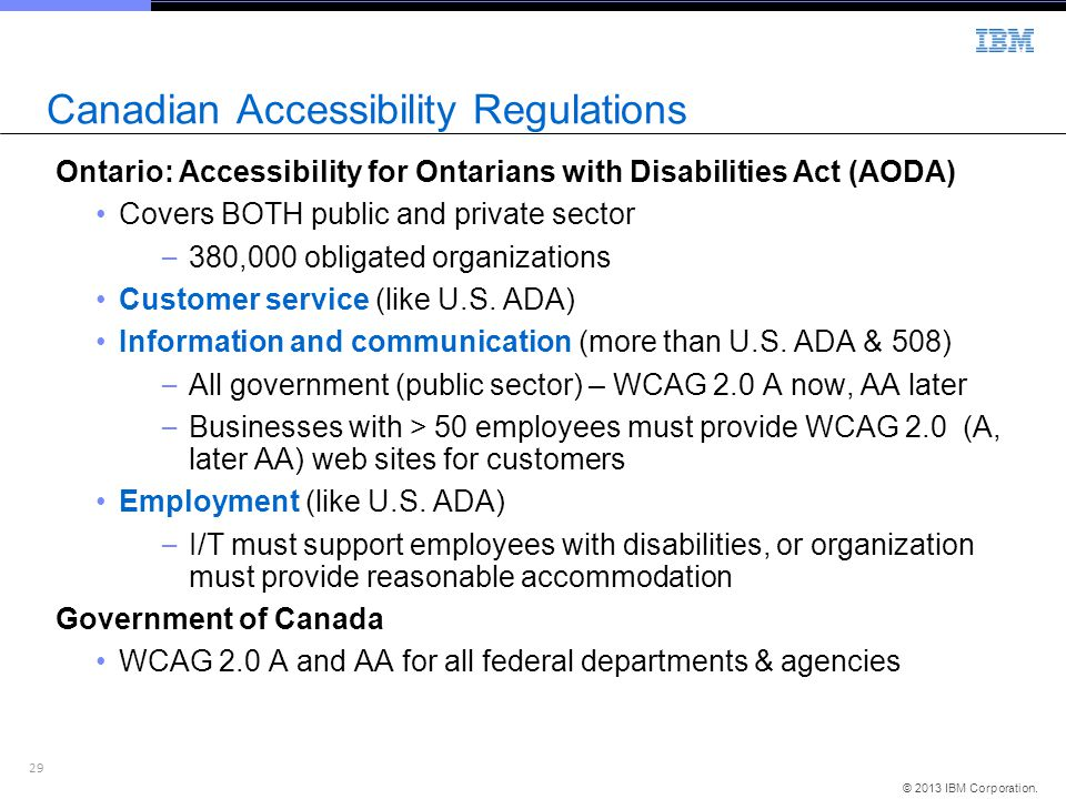 Canadian Accessibility Regulations