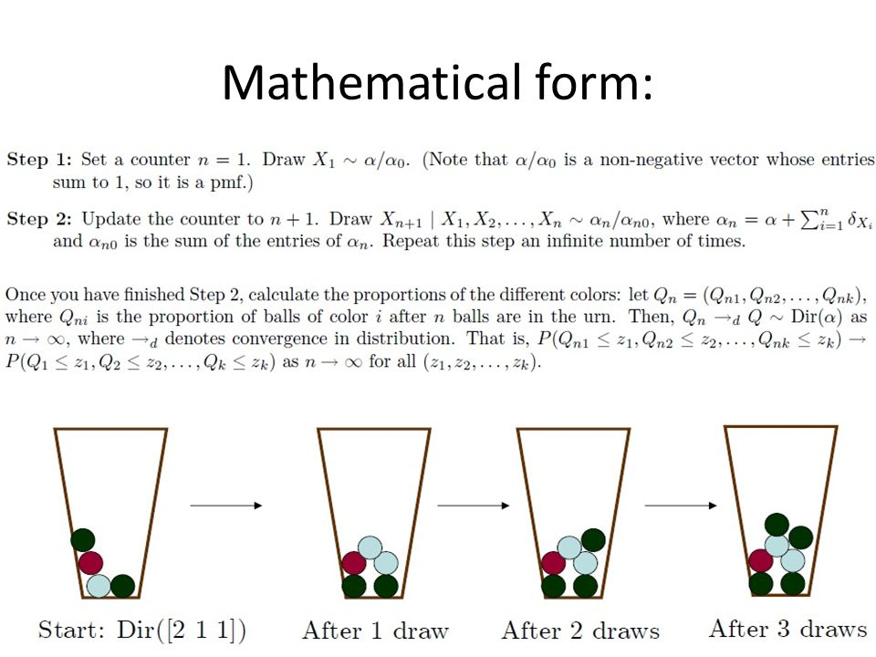 Mathematical form: