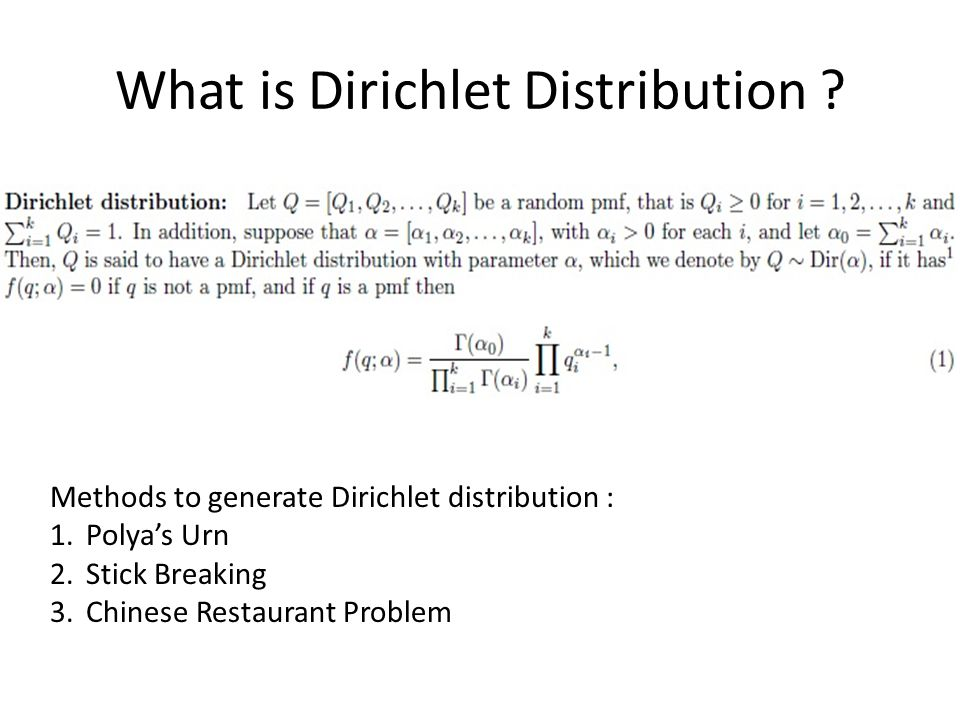 What is Dirichlet Distribution