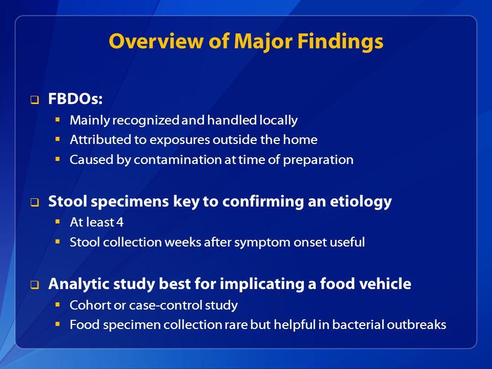 Overview of Major Findings