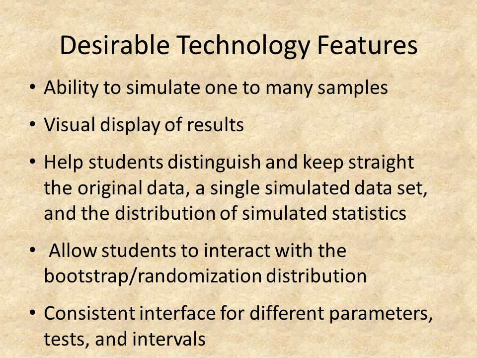 Desirable Technology Features