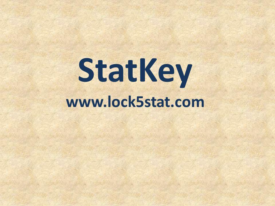 StatKey www.lock5stat.com Patti