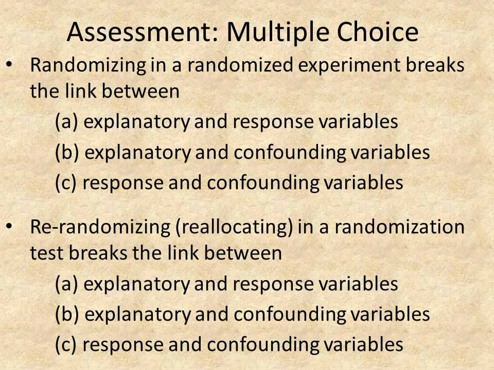 Assessment: Multiple Choice