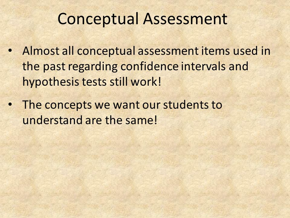 Conceptual Assessment