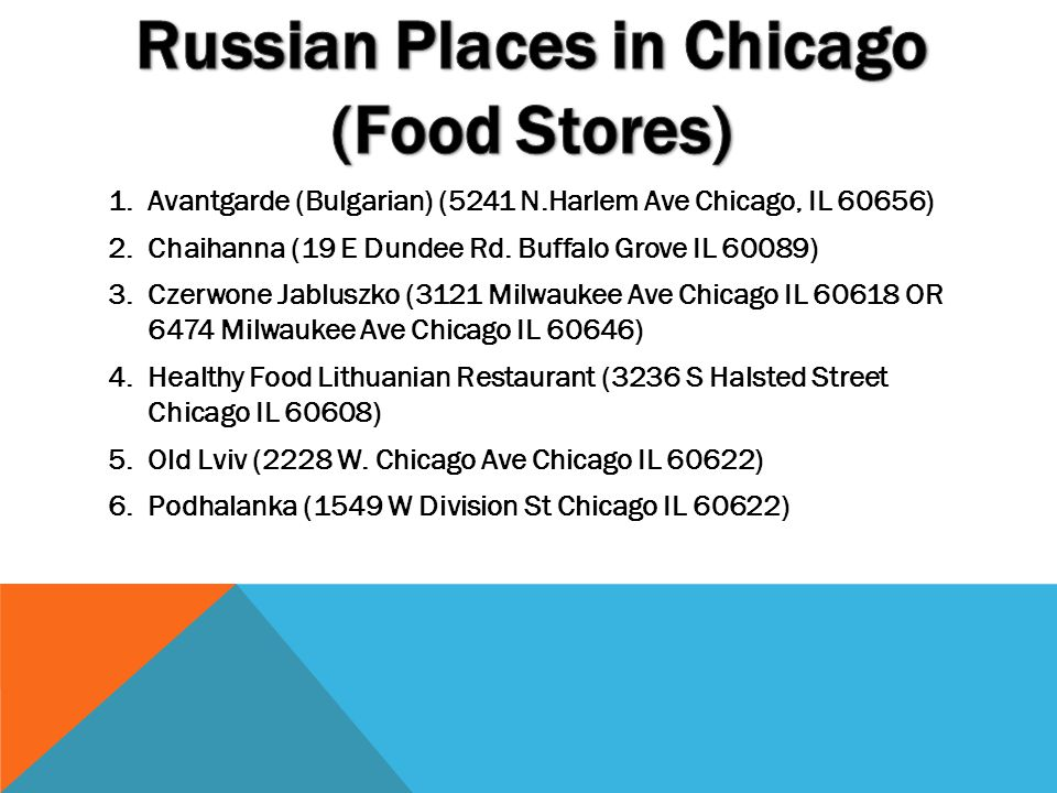 Russian Places in Chicago (Food Stores)