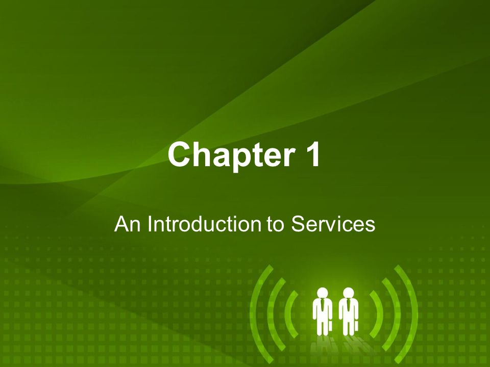 An Introduction to Services