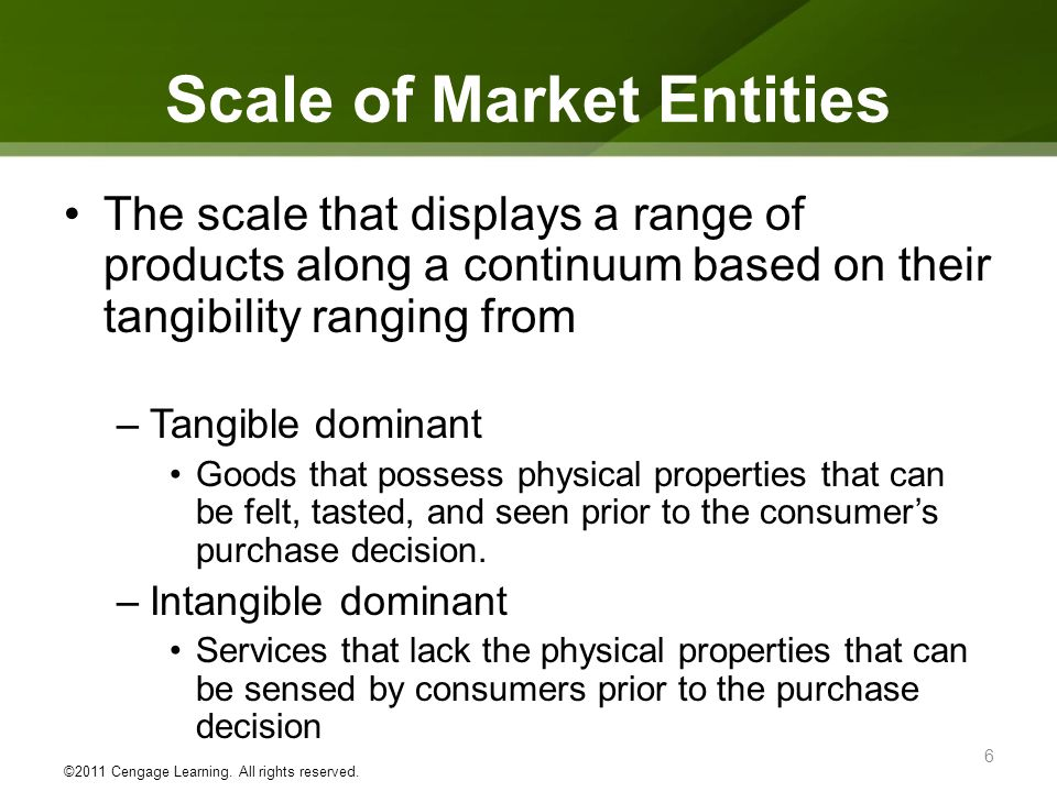 Scale of Market Entities