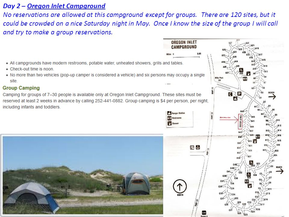 Day 2 – Oregon Inlet Campground