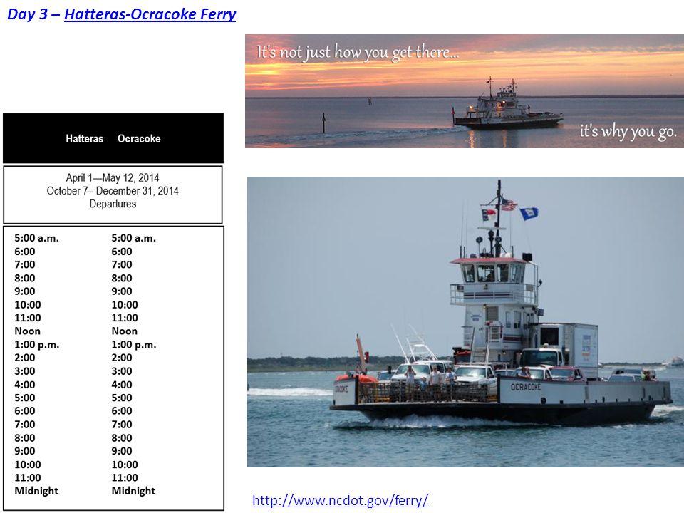 Day 3 – Hatteras-Ocracoke Ferry