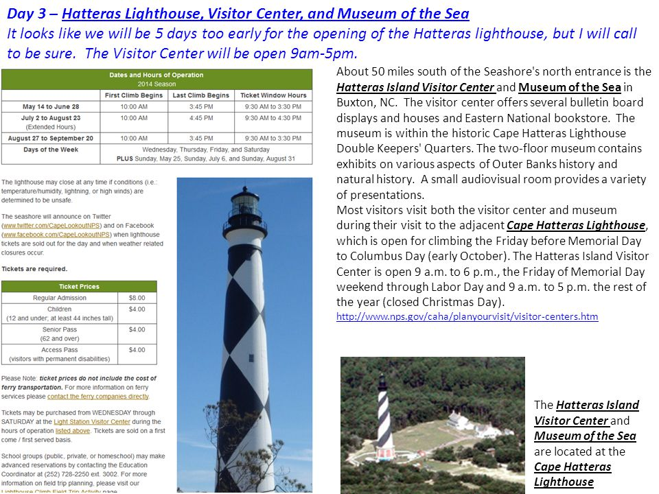 Day 3 – Hatteras Lighthouse, Visitor Center, and Museum of the Sea