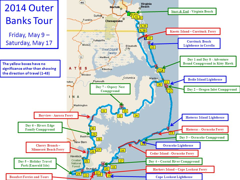 2014 Outer Banks Tour Friday, May 9 – Saturday, May 17