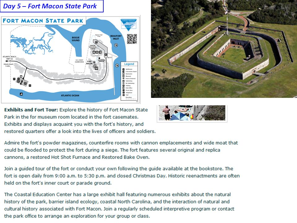 Day 5 – Fort Macon State Park