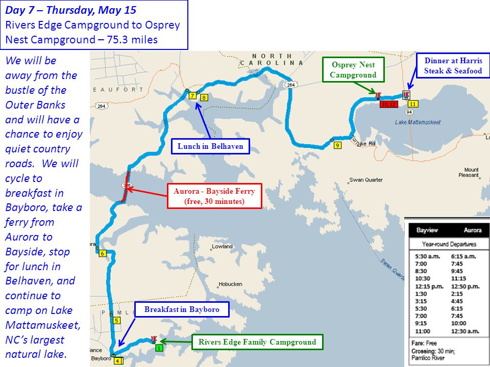 Rivers Edge Campground to Osprey Nest Campground – 75.3 miles