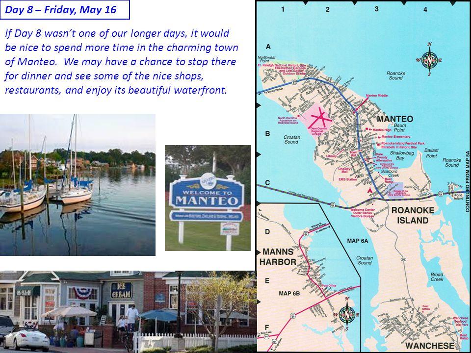 Day 8 – Friday, May 16