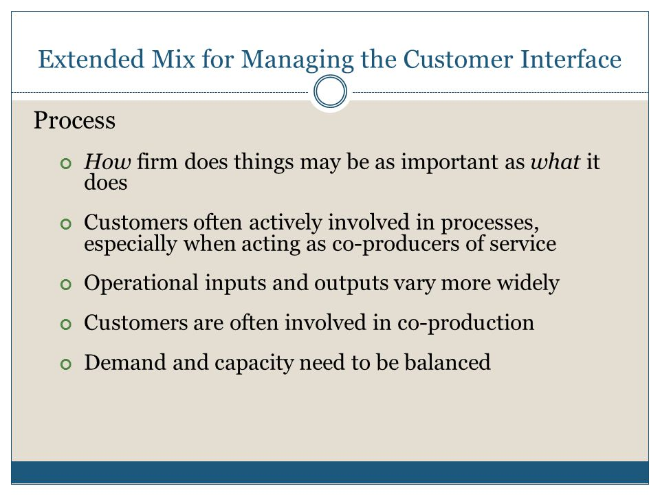 Extended Mix for Managing the Customer Interface