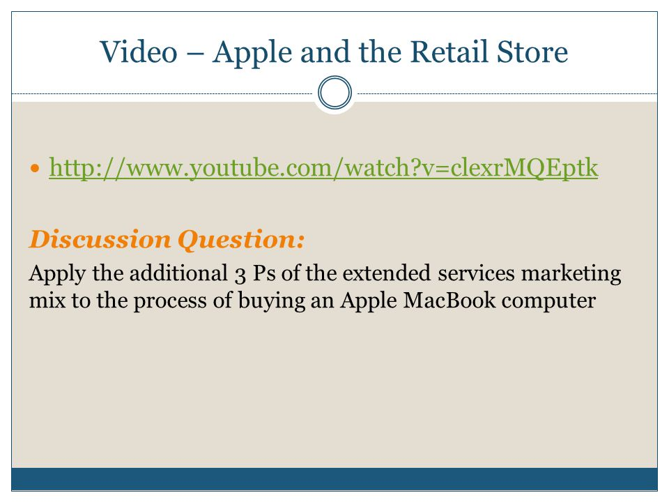 Video – Apple and the Retail Store