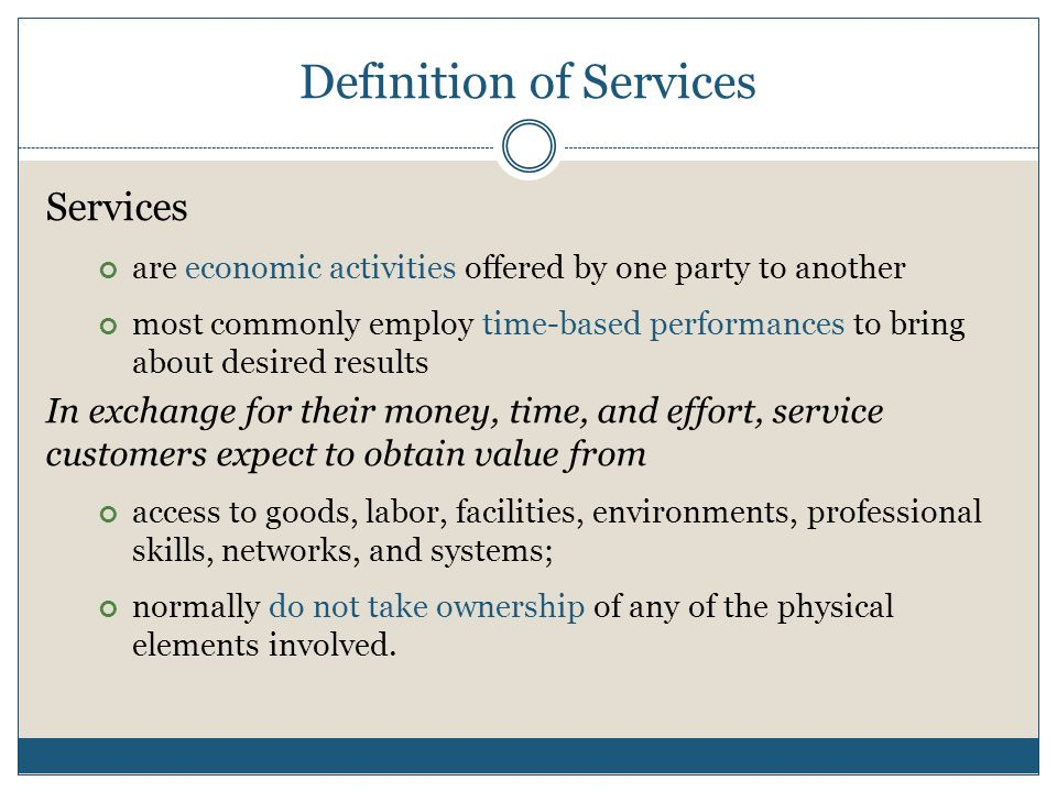 Definition of Services