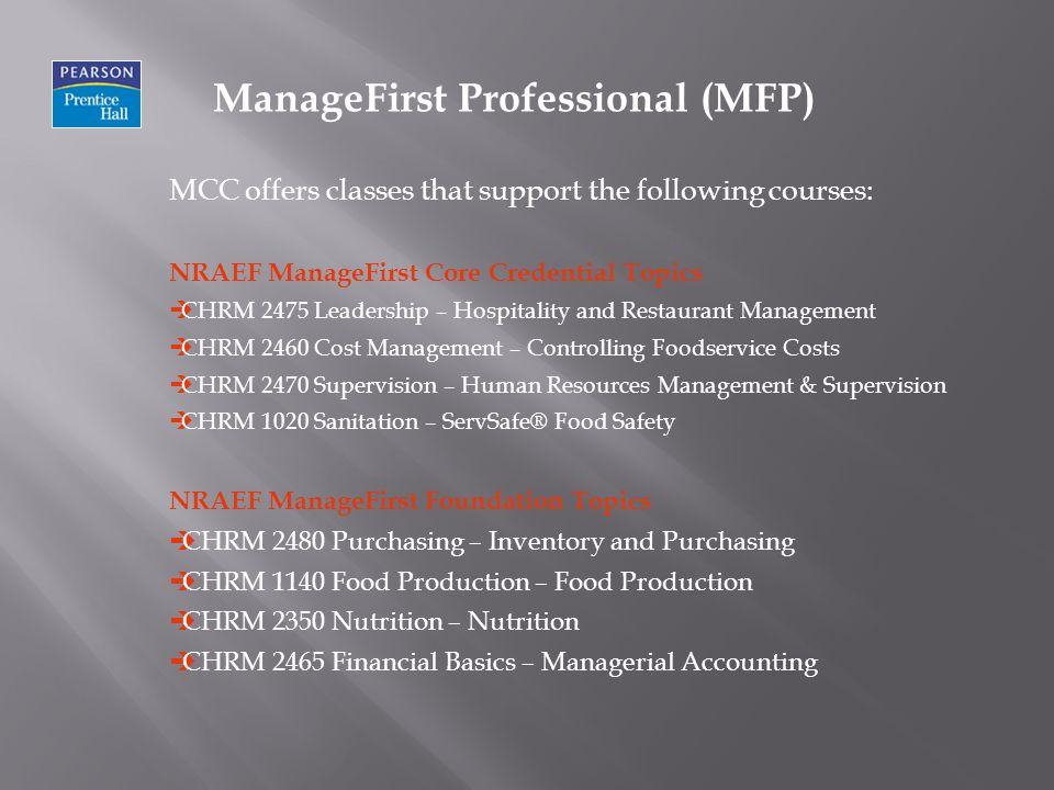 ManageFirst Professional (MFP)