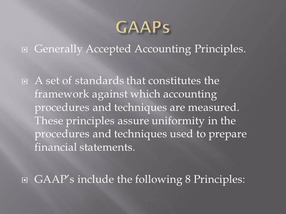 French generally accepted accounting principles