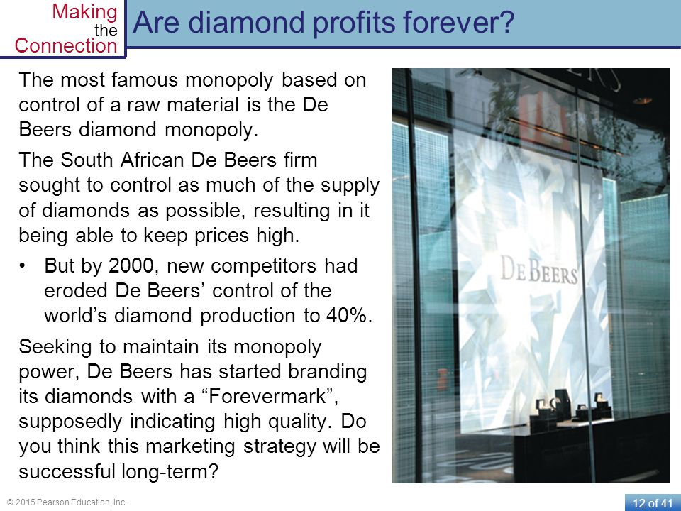 Are diamond profits forever